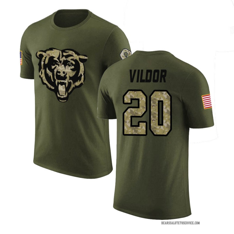 Youth Kindle Vildor Chicago Bears Legend Olive Salute to Service T-Shirt
